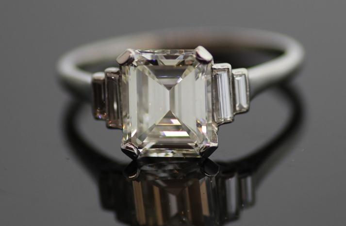 Emerald Cut Engagement Ring Vintage