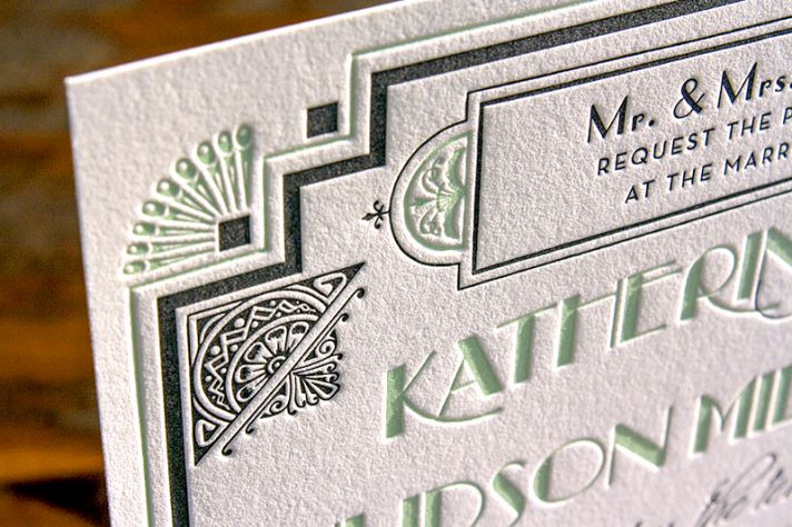 Great Wedding Invites: Glamorous Great Gatsby Wedding Inspiration