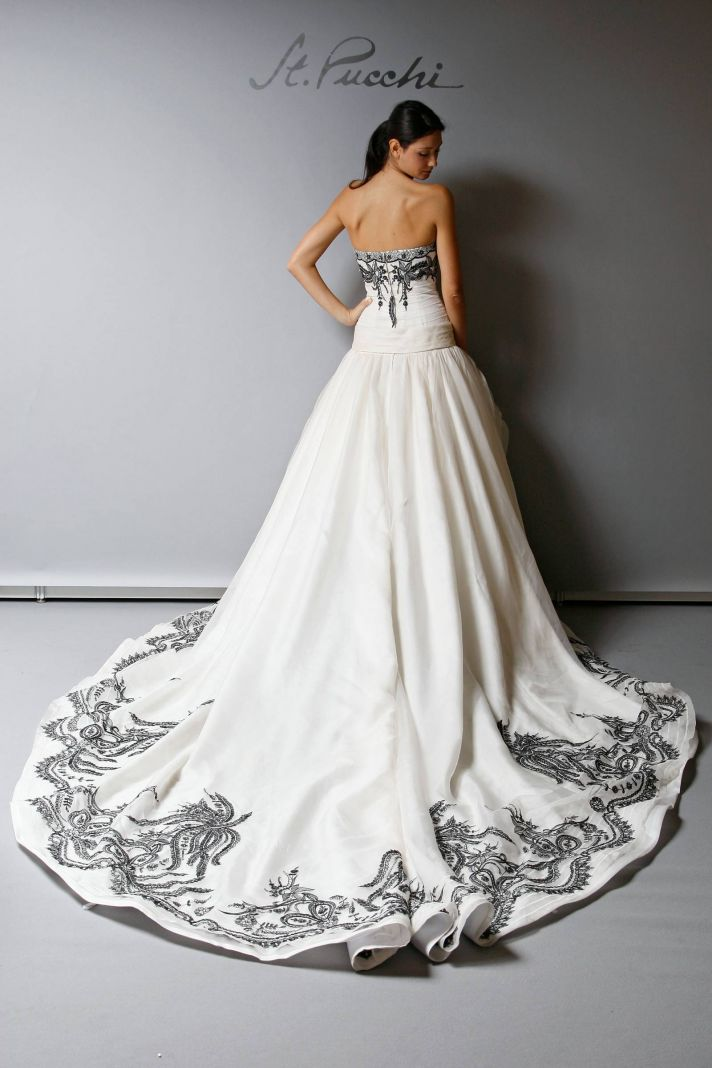 2013 Wedding Dress St Pucchi Bridal cream with black