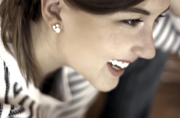 DIY Bridal Earrings Gold Crystal