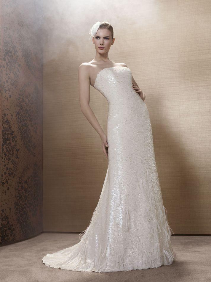 2013 Wedding Dress by French Bridal Designer Elisabeth Barboza k127