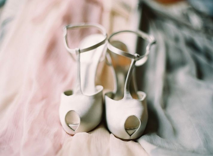 Neutral Wedding Colors Elegant Timeless Style peep toe shoes