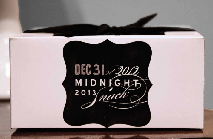 NYE Wedding Chalkboard Favor Boxes