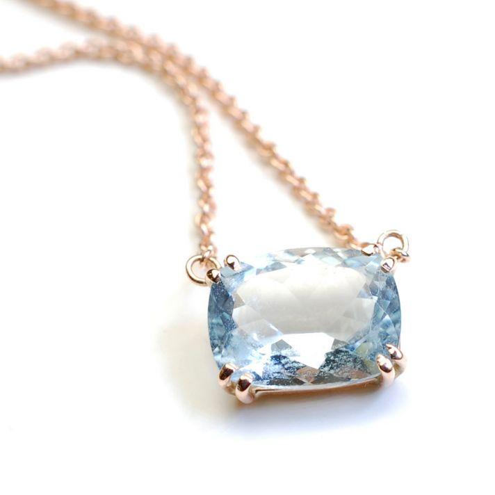Aqua Marine Wedding Necklace