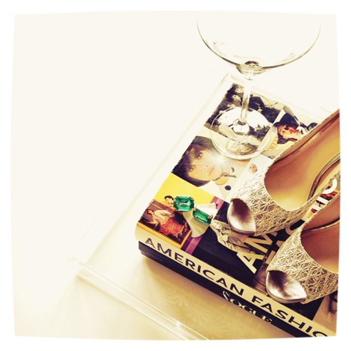 Fashion Martini and a Brides Wedding Shoes