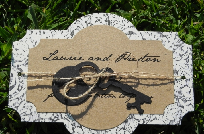 Lace Inspired Vintage Wedding Save the Date