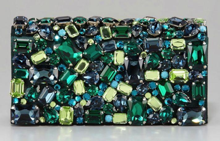 Emerald Green Bridal Clutch by Prada