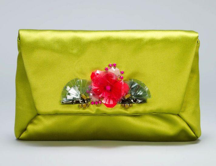 Chartreuse Lanvin Bridal Clutch
