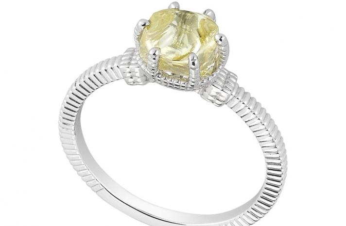 Unique Engagement Ring Diamond In The Rough 3D356 2 03 B