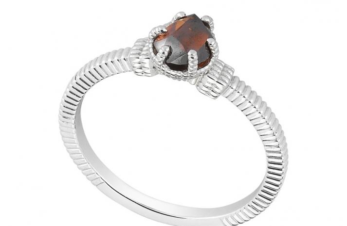 Unique Engagement Ring Diamond In The Rough 3D343 0 97 B