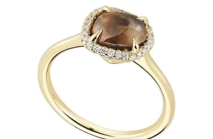 Unique Engagement Ring Diamond In The Rough 3D112 2 11 B