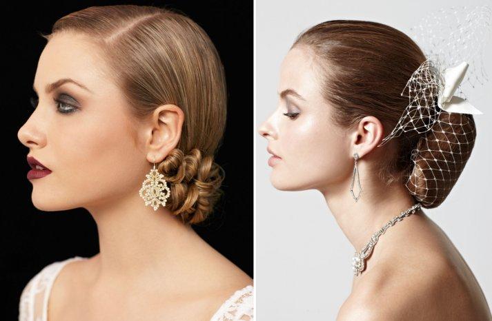 Sleek Bridal Updos Vintage Inspired