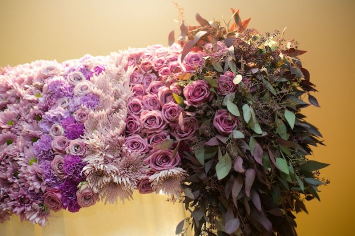Beautiful ombre wedding bouquets and centerpieces onewed