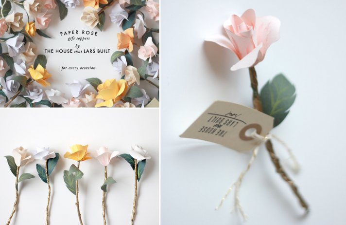 Pastel Paper Flowers for Eco Weddings