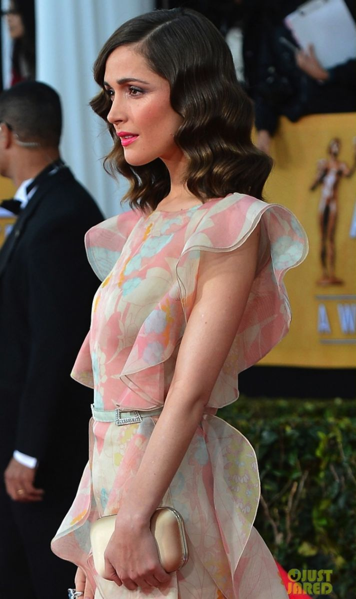 Retro Waves Wedding hair Rose Byrne