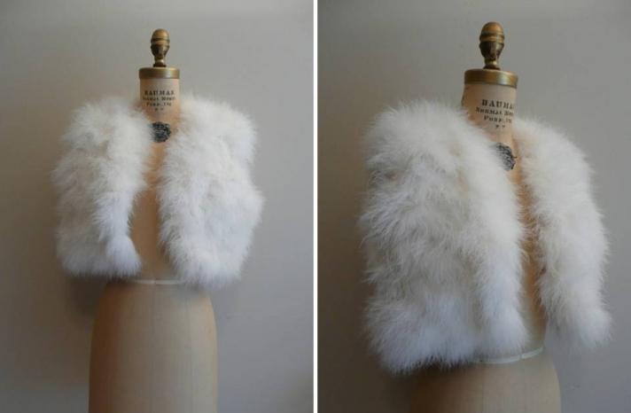 Vintage Wedding Accessories Feather Shrug