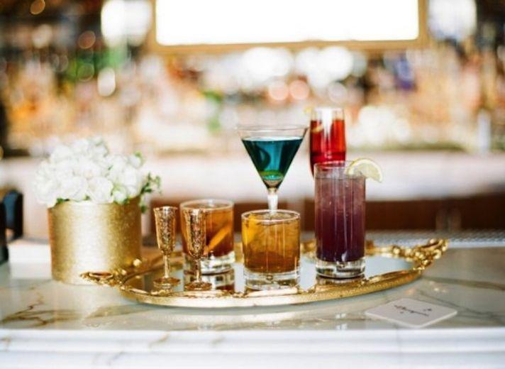 Wedding Cocktails Set Up Elegantly