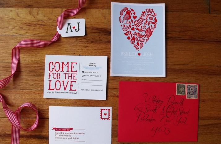 Bright Heart Wedding Invitation Suite