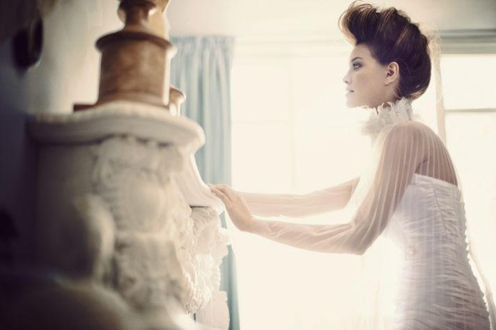 Drop Waist Mermaid Wedding Dress with Sweetheart Neckline Crystal Sash