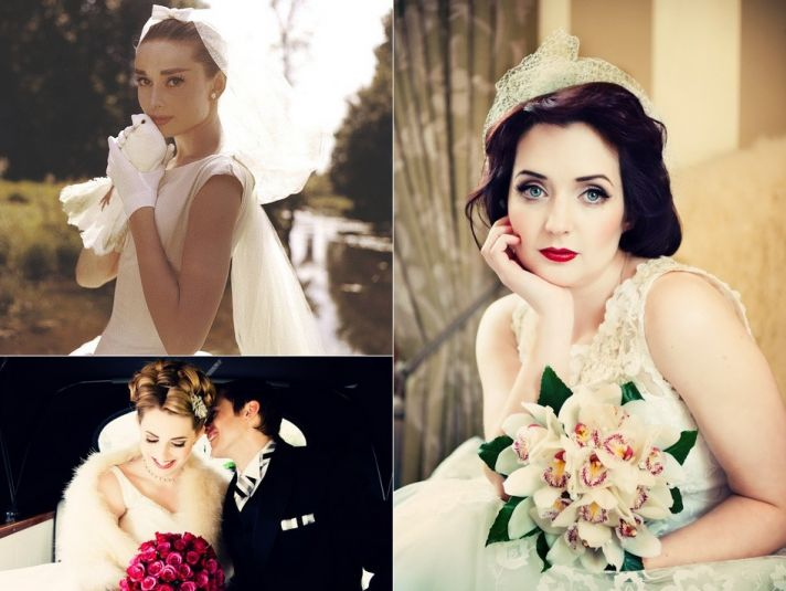1950s style bride vintage wedding themes