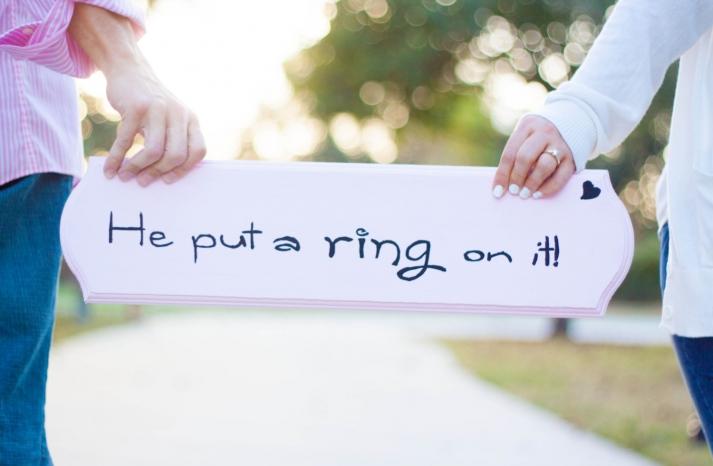 Custom Wedding Signs Engagement Announcement