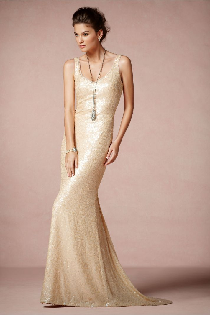 Badgley mischka teams up with anthropologie 39 s bhldn onewed for Wedding dress badgley mischka