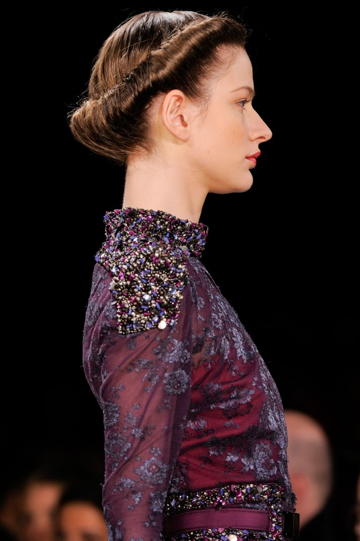 Retro wedding hairstyle at Carolina Herrera