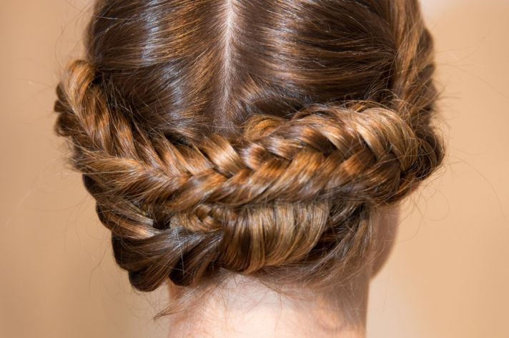 Braided Wedding Hairstyle Christian Siriano