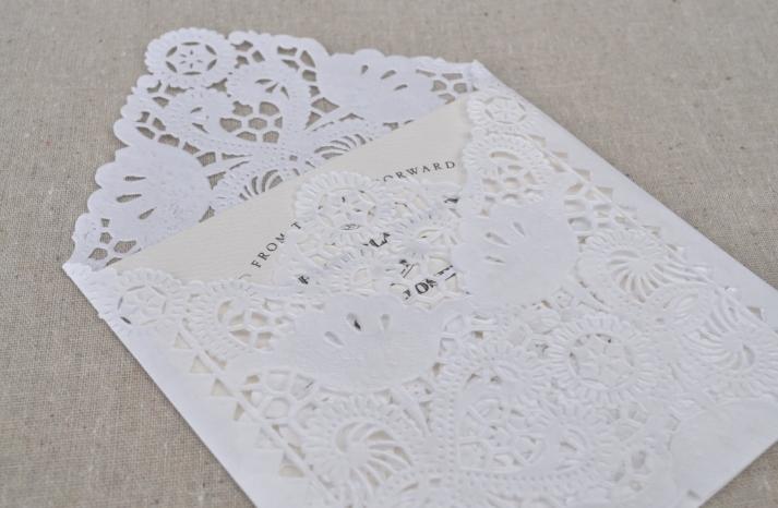 DIY Lace Wedding Invitation Envelopes