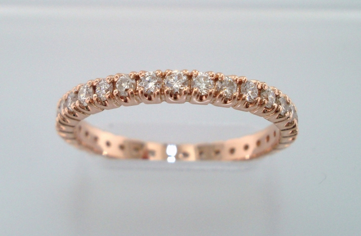 Rose gold with diamonds hers wedding band