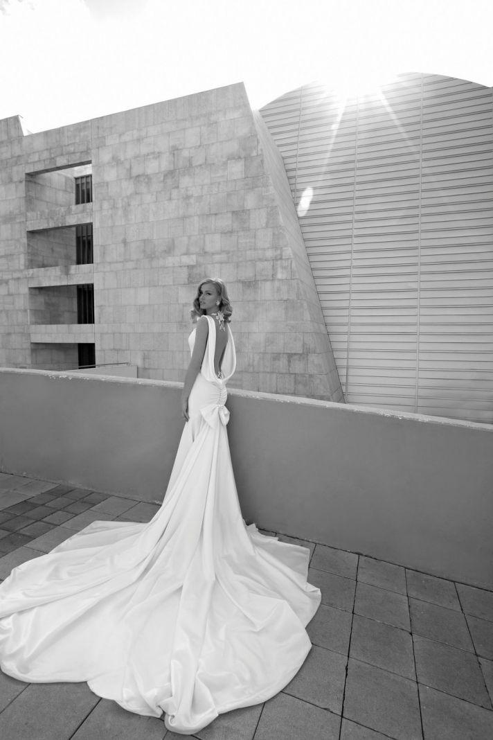 Open Back Wedding Dress Handmade