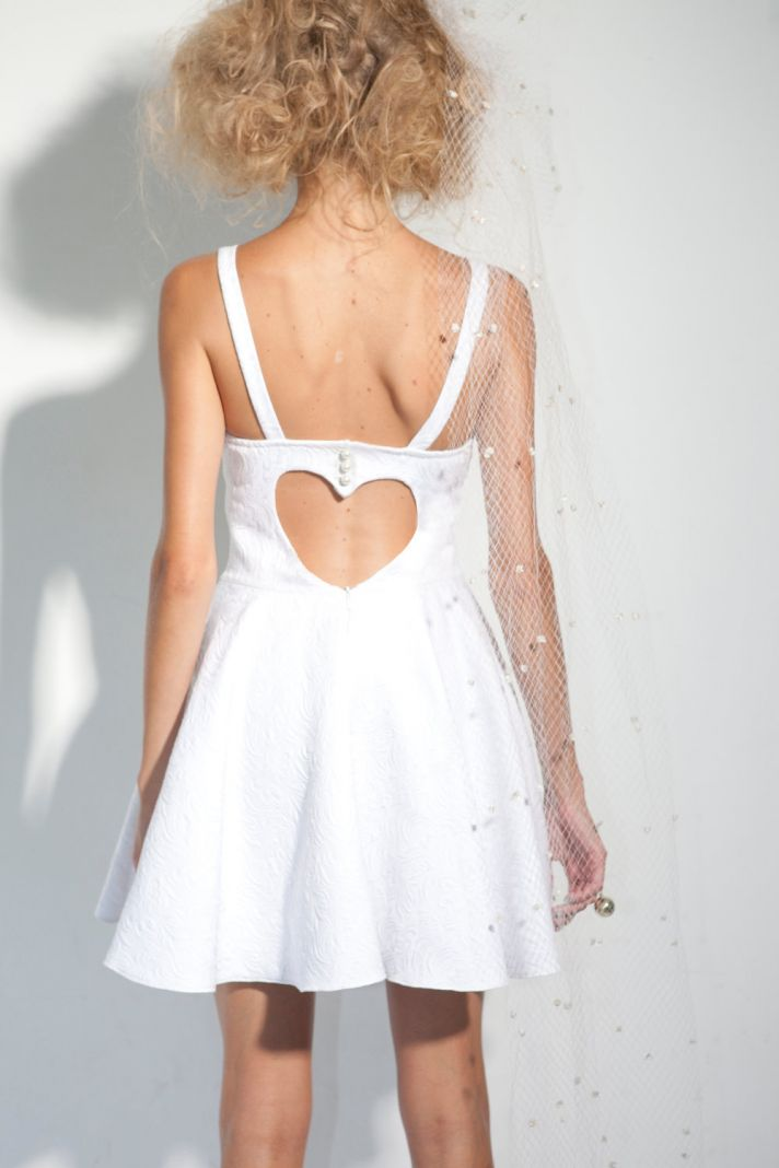 LWD with heart shaped open back