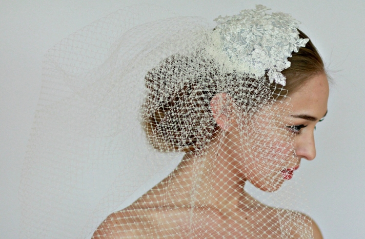 Fancy Hats for Royal Inspired Weddings lace veiled birdcage