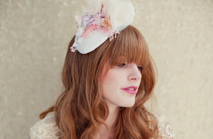 Pretty pastel wedding guest hat