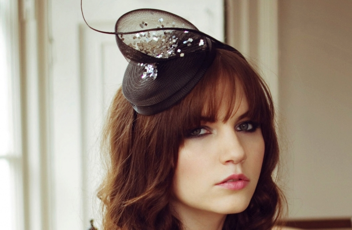 Black and Silver Chic Bridesmaid Hat