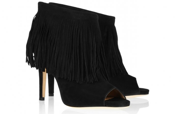 Black Suede Wedding Booties by Jimmy Choo