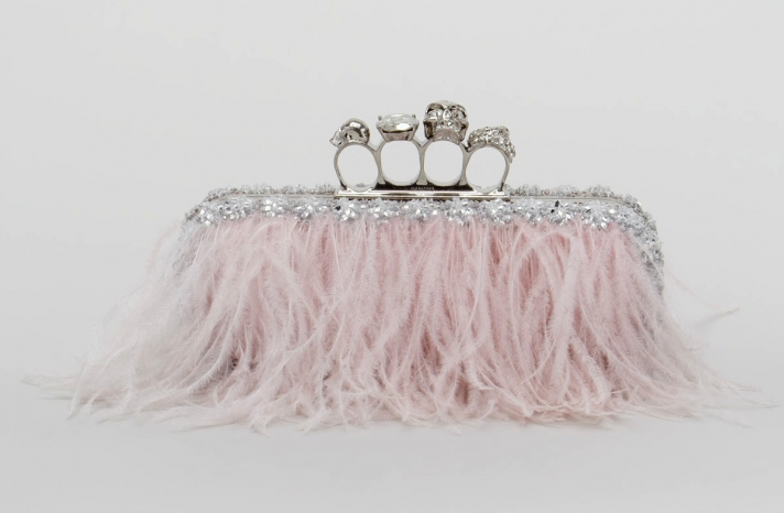 Cotton Candy Pink Alexander Mc Queen Bridal Clutch