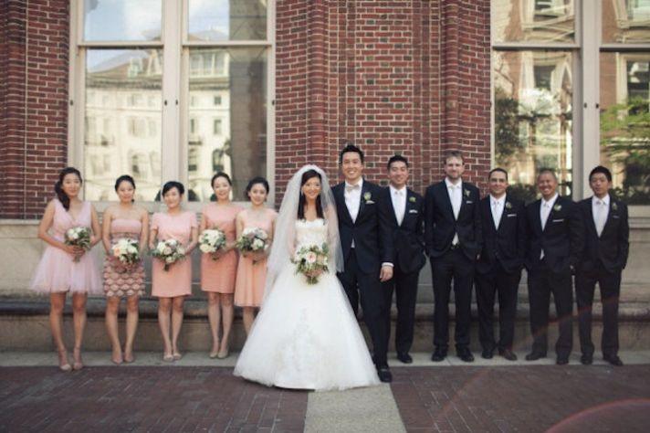 blush black and ivory wedding inspiration