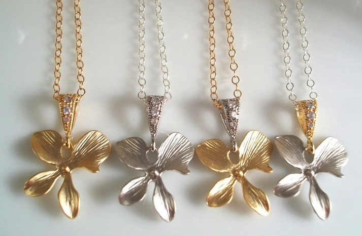 Bridesmaid Gift Ideas Silver Gold Necklaces