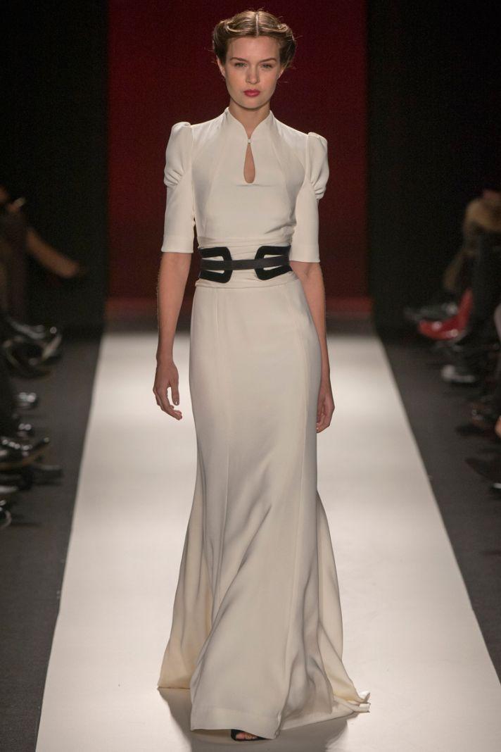 Vintage inspired ivory Carolina Herrera Gown