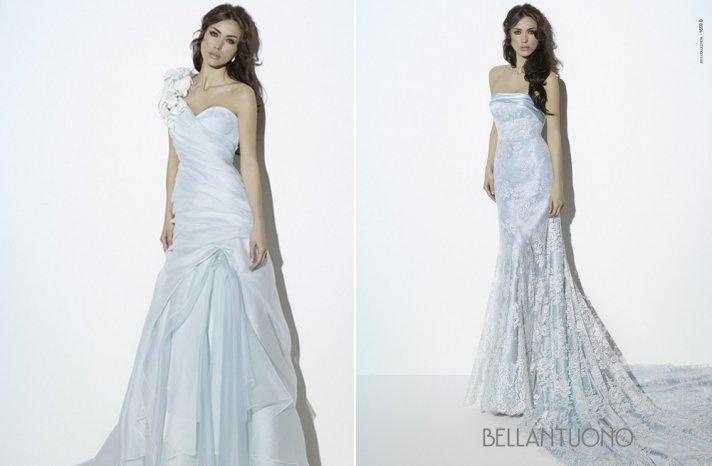 Light blue wedding dresses for romantic brides