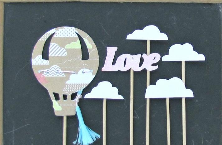 Hot air balloon vintage love