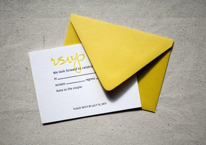 yellow white black watercolor wedding invites