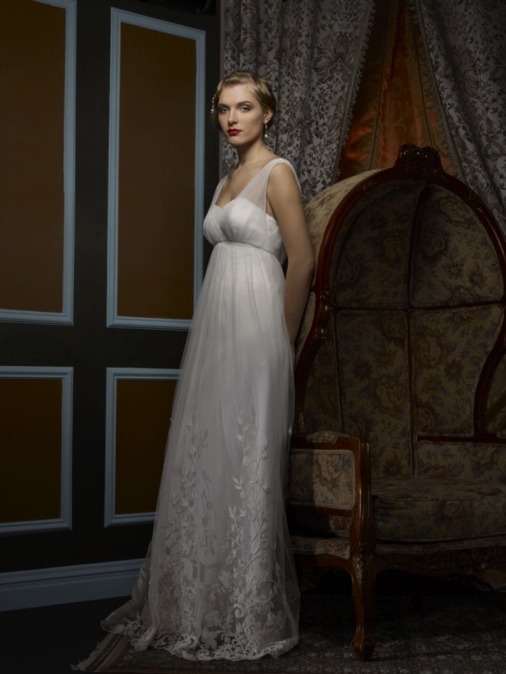 Wedding dress by Birnbaum and Bullock 2013 Bridal Rickie