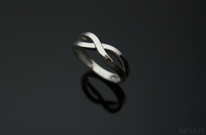 Simple mens wedding band infinity