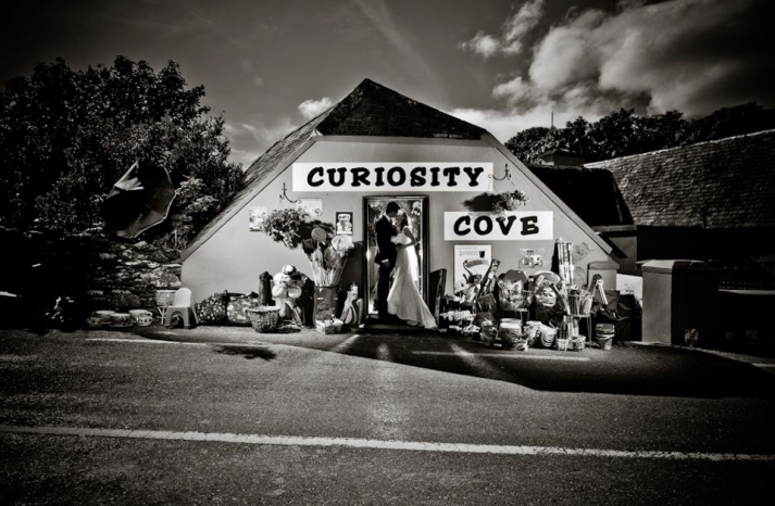 Awesome wedding photo bride and groom at Curiousity Cove