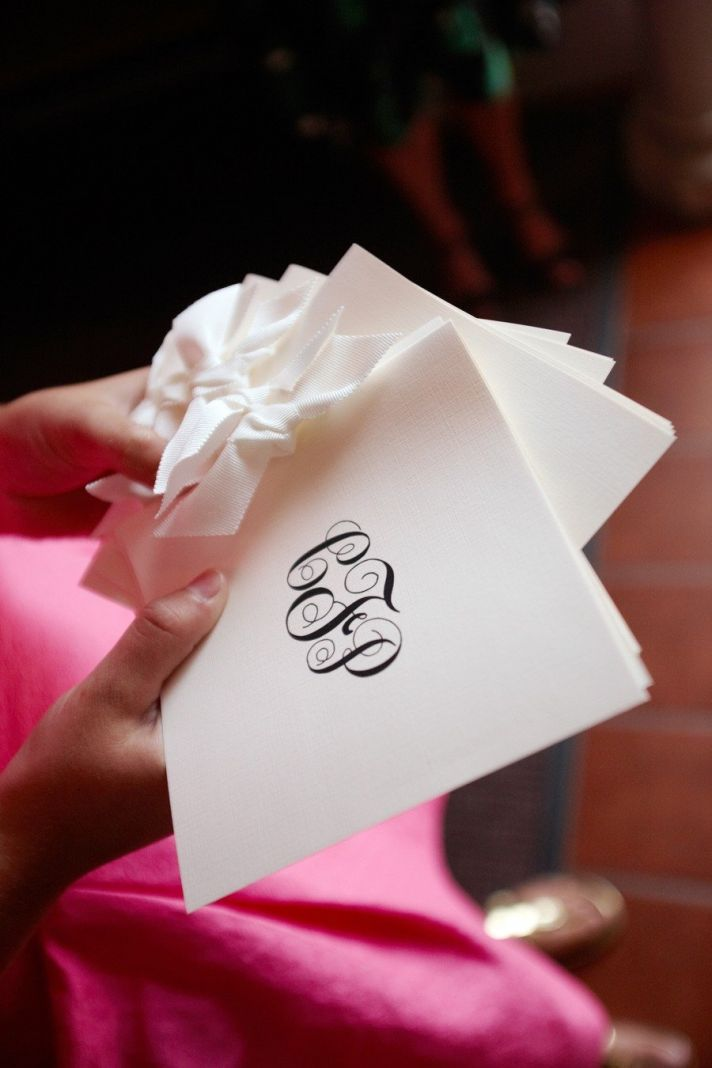 Custom monogram wedding ceremony programs