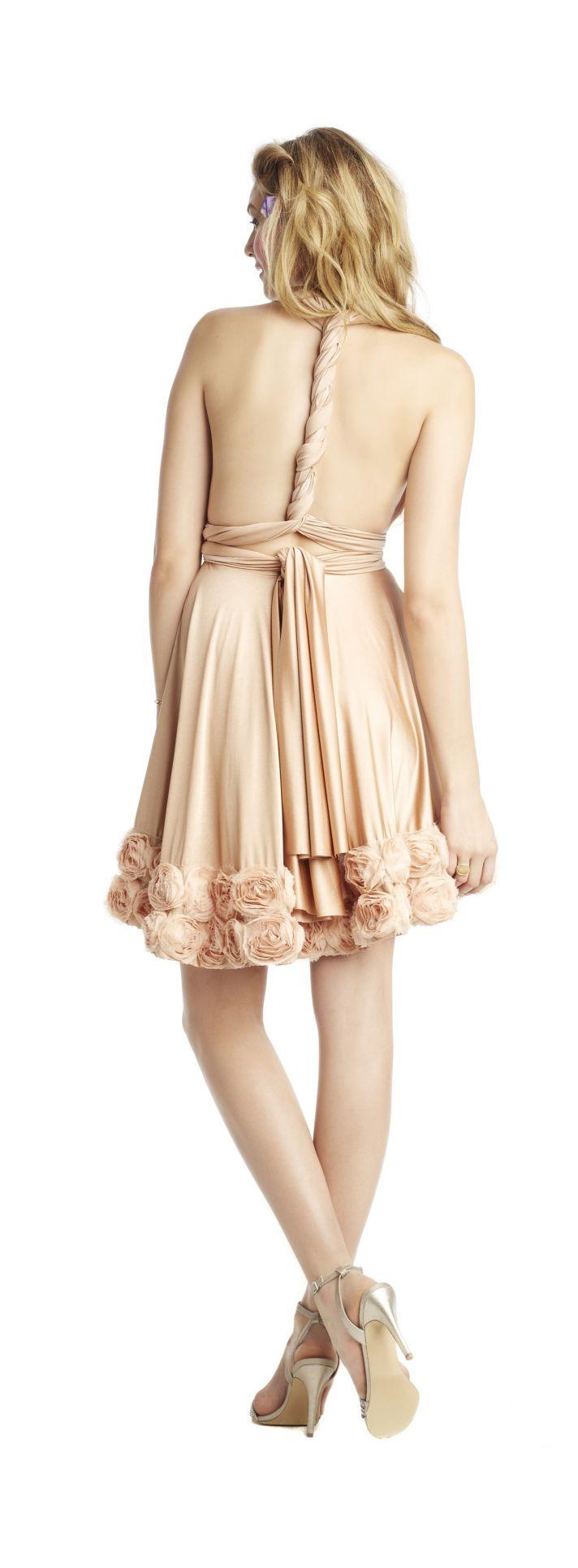 Wine hued bridesmaid dress