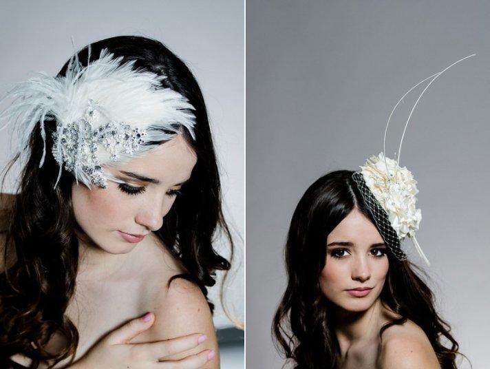 Fancy wedding fascinators and hats