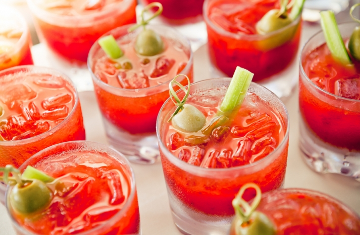 Bloody Mary Signature Drinks at Wedding Reception